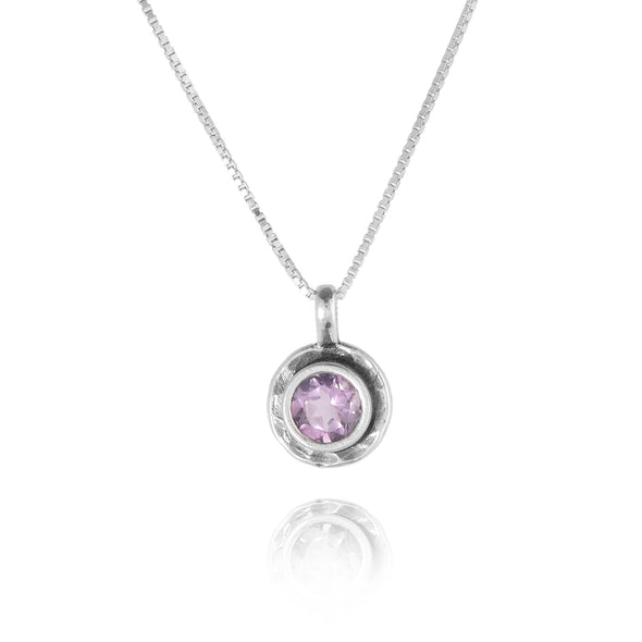 Gemstone Solitaire Pendant Sterling Silver - Danny Newfeld Collection