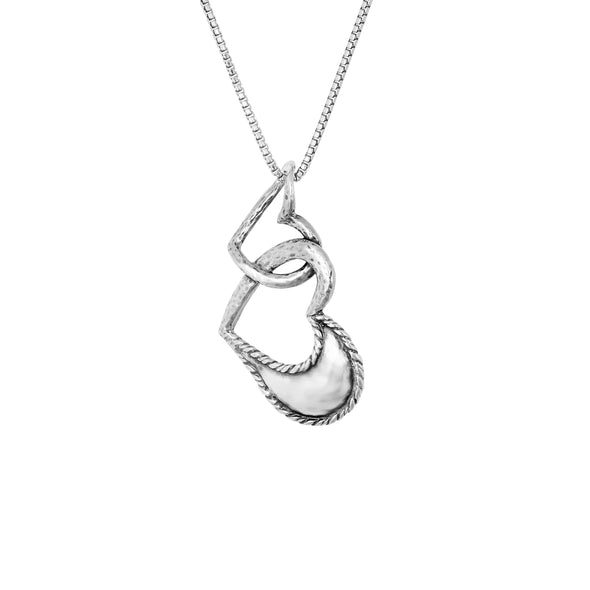 Heart-to-Heart Necklace Sterling Silver - dannynewfeld