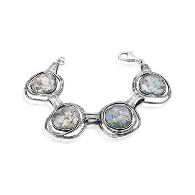 Roman Glass Sterling Silver Charm Bracelet Sterling Silver - Danny Newfeld Collection