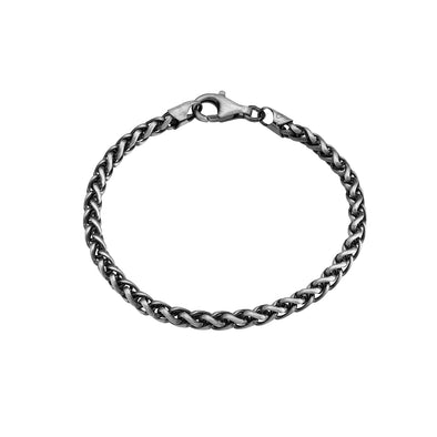 Men's Sterling Silver Braided Chain Link Bracelet - Danny Newfeld Collection
