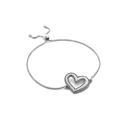 Heart Bracelet Sterling Silver - Danny Newfeld Collection