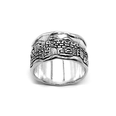 Sterling Silver City of Jerusalem Ring