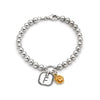 5mm Solid Beads Personalized Rose Bracelet Sterling Silver