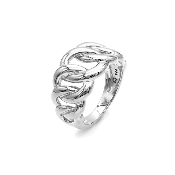 Chain Design Ring Sterling Silver