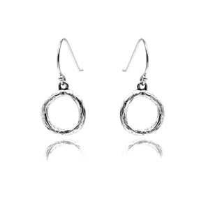 Karma Earrings Sterling Silver