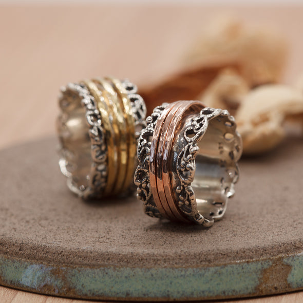 Lacey Spinner Ring Sterling Silver