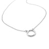 Karma Circle Pendant Necklace Sterling Silver