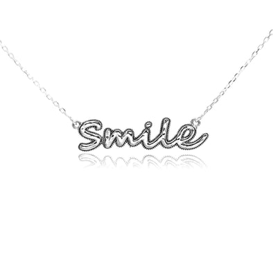 Smile Necklace Sterling Silver