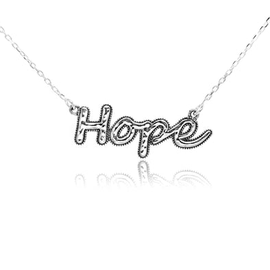 Hope Necklace Sterling Silver