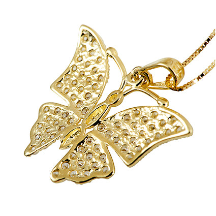 Butterfly Diamond Pendant Necklace 14K Gold - Danny Newfeld Collection