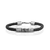 Men's Sterling Silver Braided Leather Bracelet - dannynewfeld