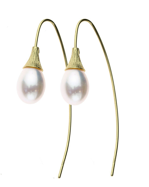 Pearl Dangle Earrings 14K Gold - Danny Newfeld Collection