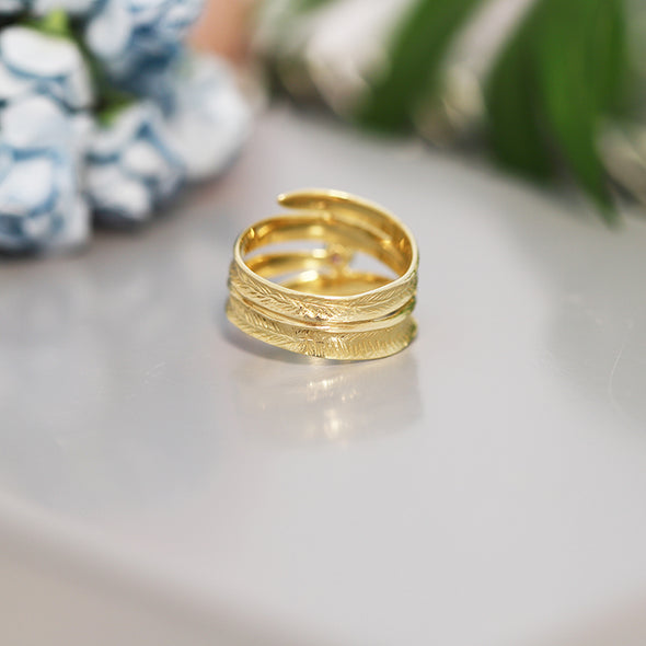 Wraparound Gemstone Ring 14K Gold - dannynewfeld