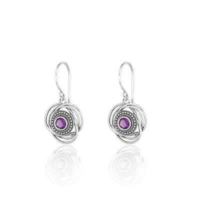 Amethyst Gemstone Earrings Sterling Silver - dannynewfeld