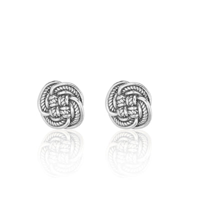 Basketweave Stud Earrings Sterling Silver - dannynewfeld