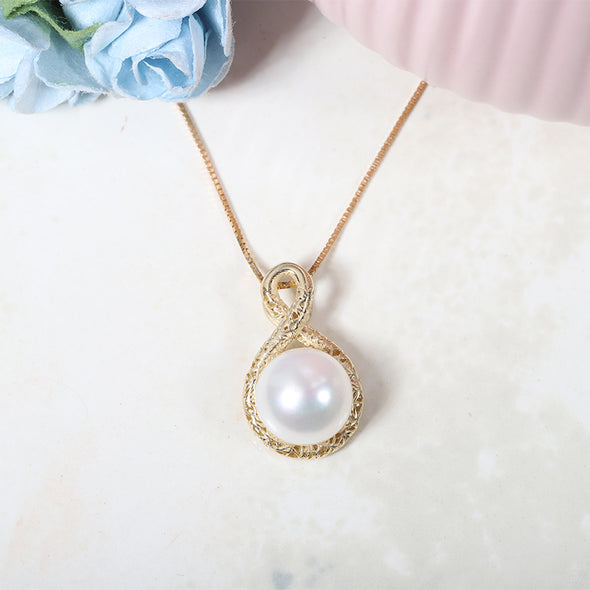 Pearl Pendant Necklace 14K Gold - dannynewfeld