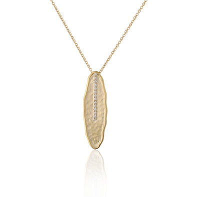 Oval Diamond Pendant Necklace 14K Gold - dannynewfeld