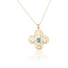 Filigree Pendant Necklace 14K Gold - dannynewfeld