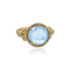 Round Gemstone and Diamond Ring 14K Gold - Danny Newfeld Collection