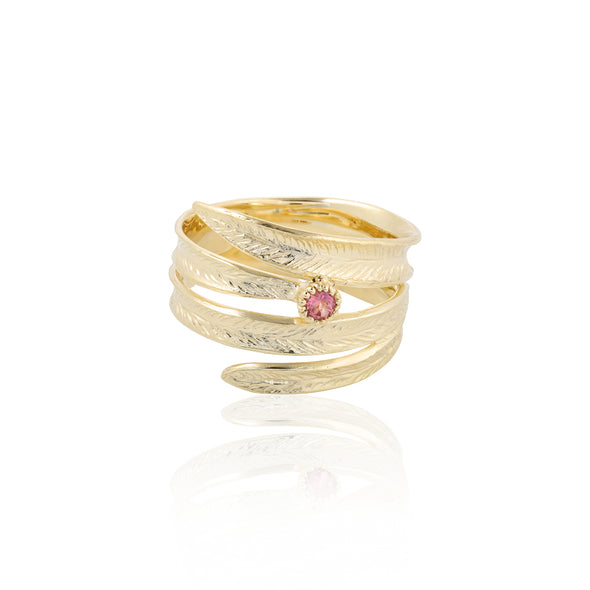 Wraparound Gemstone Ring 14K Gold - Danny Newfeld Collection