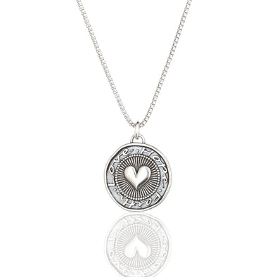 Faith, Love and Hope Pendant Necklace Sterling Silver - Danny Newfeld Collection