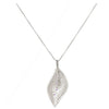 Leaf and Gemstone Pendant Sterling Silver - dannynewfeld