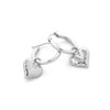 Heart Charm Hoop Earrings - Danny Newfeld Collection