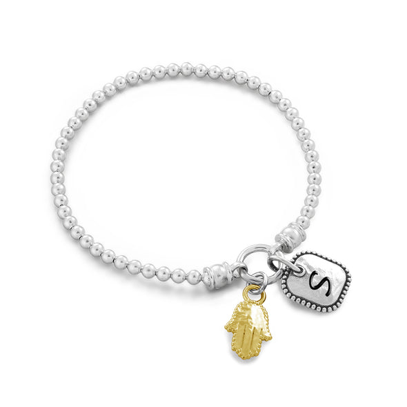 Personalized Best Friend Stretch Charm Bracelets Sterling Silver - dannynewfeld