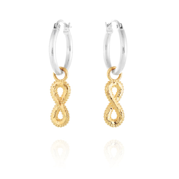 INFINITY Charm Hoop Earrings - Danny Newfeld Collection