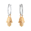 Hamsa Charm Hoop Earrings - Danny Newfeld Collection