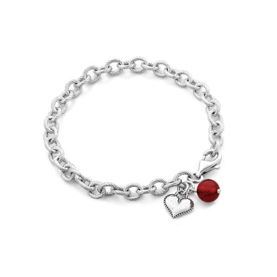 Gemstone Charm Bracelet Sterling Silver - Danny Newfeld Collection