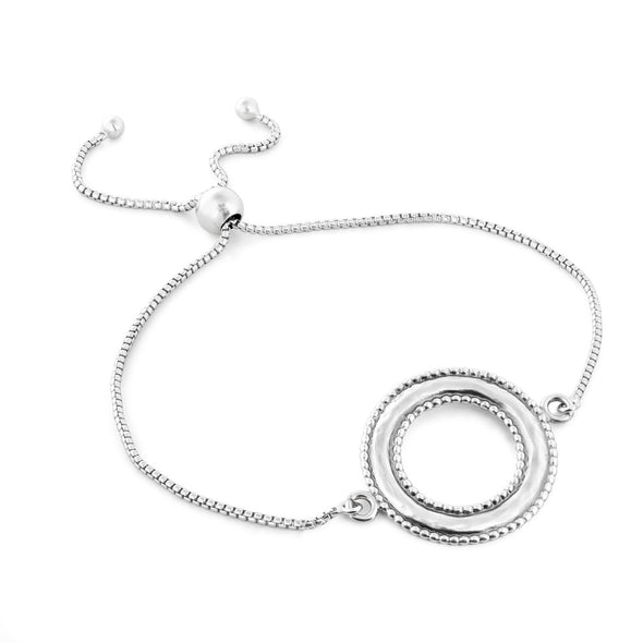 Open Circle Friendship Bracelet - One Size Sterling Silver - Danny Newfeld Collection