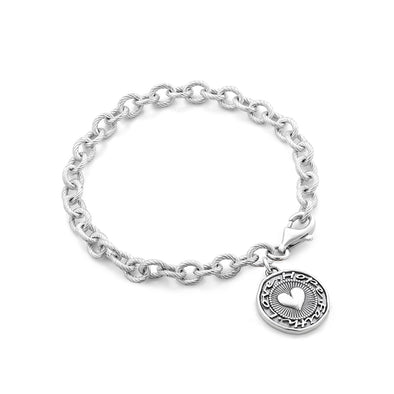 Love, Faith & Hope Charm Bracelet Sterling Silver - Danny Newfeld Collection