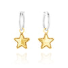 Star Charm Hoop Earrings - dannynewfeld
