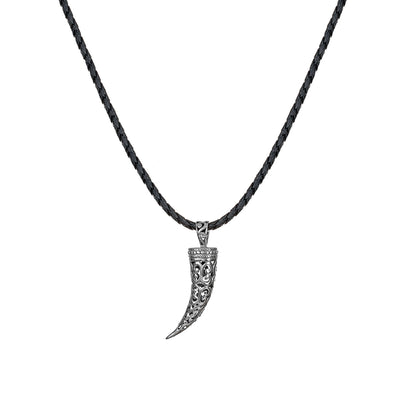 Men's Sterling Silver Filigree Tusk Necklace - dannynewfeld