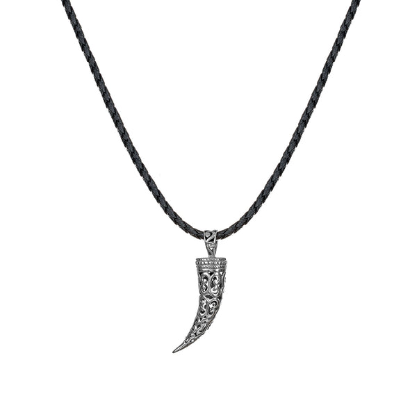 Men's Sterling Silver Filigree Tusk Necklace - Danny Newfeld Collection