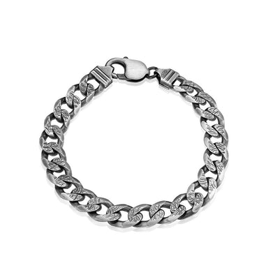 Men's Sterling Silver Gunmetal Chain Bracelet - Danny Newfeld Collection