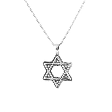 Star of David Pendant Necklace in Sterling Silver - dannynewfeld