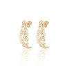 Filigree Stud Earrings 14K Gold - Danny Newfeld Collection