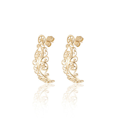 Filigree Stud Earrings 14K Gold - dannynewfeld