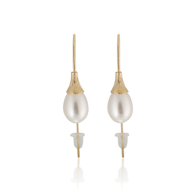Pearl Dangle Earrings 14K Gold - dannynewfeld