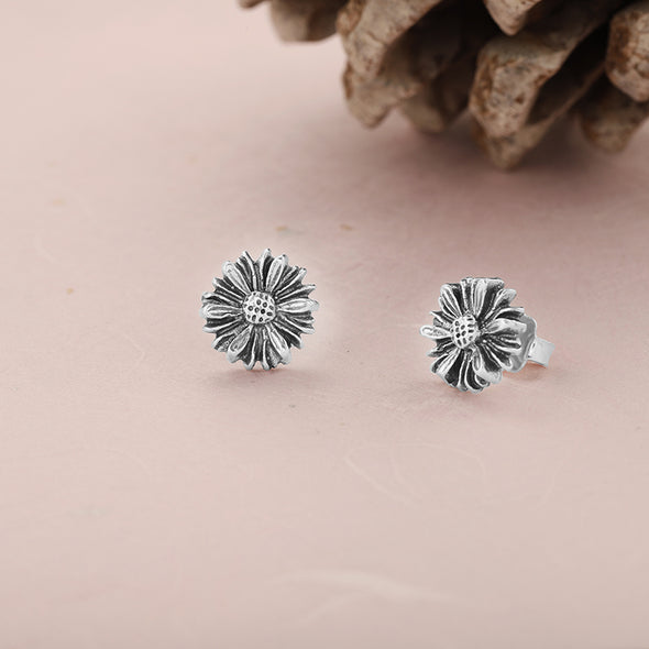 Floral Stud Earrings Sterling Silver - Danny Newfeld Collection