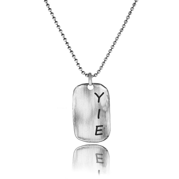 Men's Pendants Sterling Silver Dog Tag Engravable Necklace - dannynewfeld