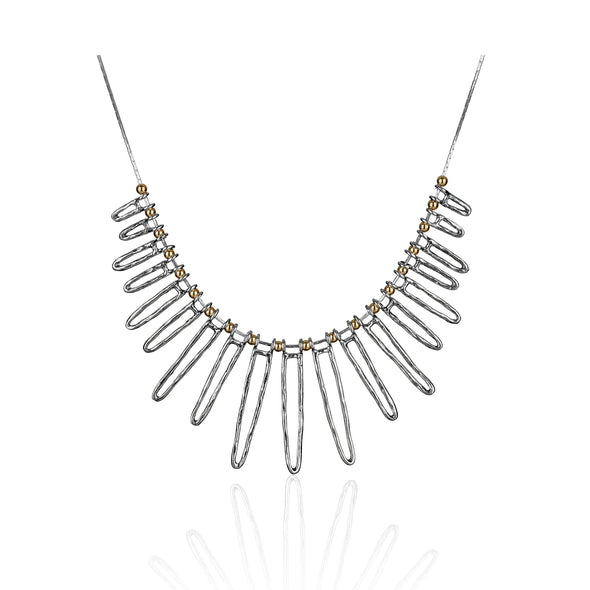 Two-Tone Sterling Silver Statement Necklace - dannynewfeld