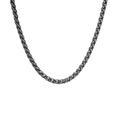 "Men's 22"" Sterling Silver Gunmetal Chain Necklace - Danny Newfeld Collection"