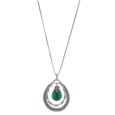 Pear Shaped Gemstone Pendant Sterling Silver - dannynewfeld