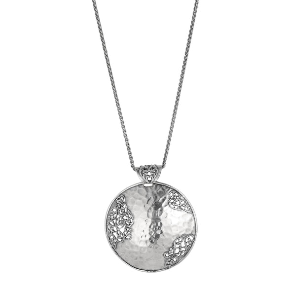 Hammered Filigree Pendant Necklace - Danny Newfeld Collection