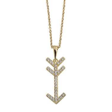 Cupid's Arrow Pendant Necklace 14K Gold - dannynewfeld