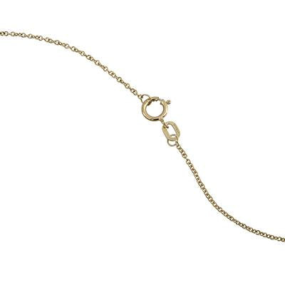 14K Gold Circle 0.5 cttw  Diamond Pendant Necklace