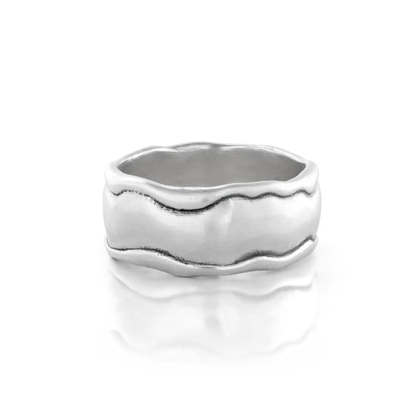 Engravable Band Ring Sterling Silver - dannynewfeld